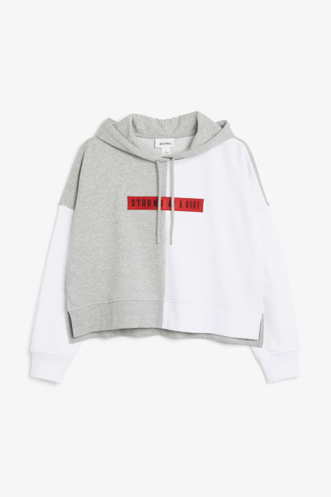Cropped statement hoodie
