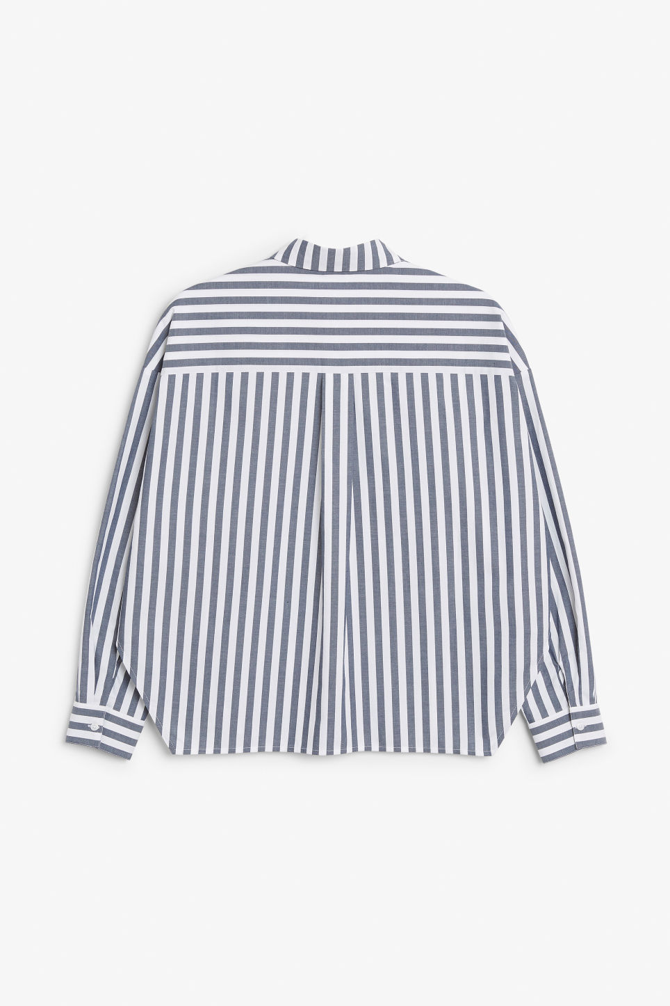 Back image of Monki button-up shirt in blue