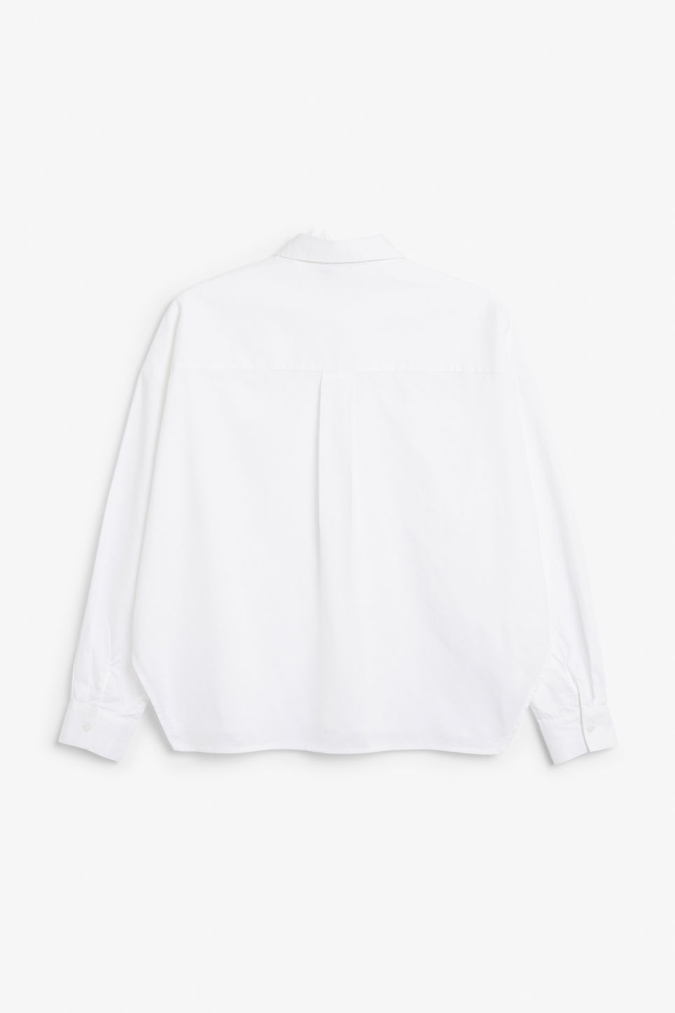 Back image of Monki button-up shirt in white