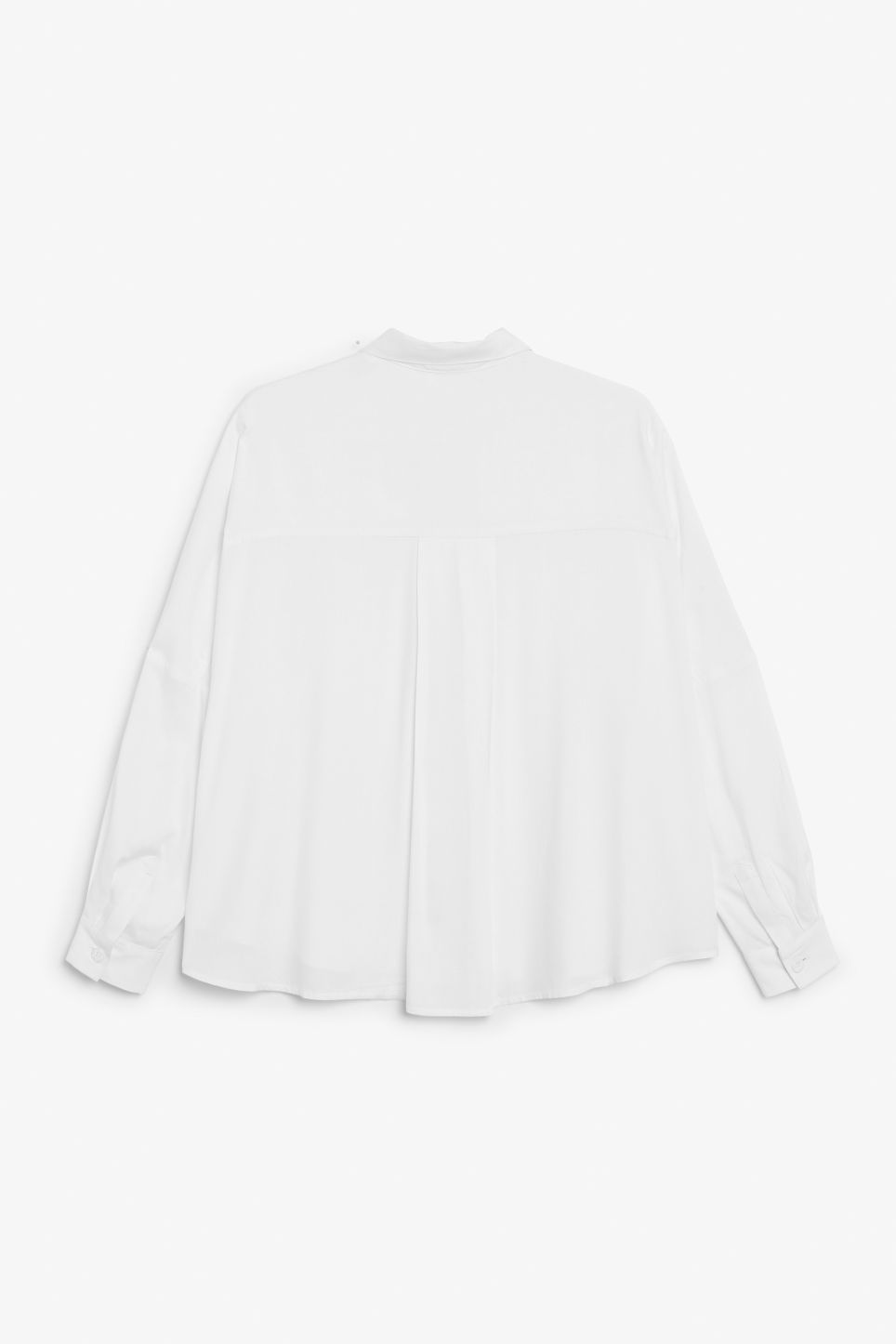 Back image of Monki flowy button-up blouse in white