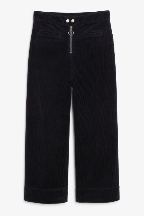 Front image of Monki high waisted culottes in blue