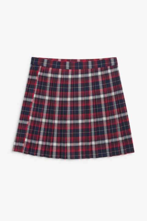 Mini skirt with box pleats