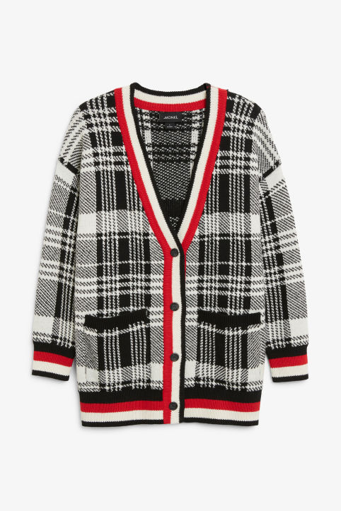 Checked cardigan