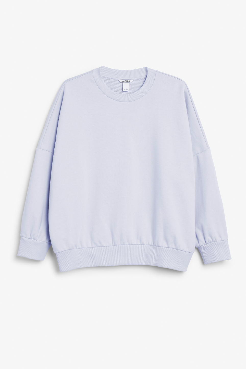 Front image of Monki cotton sweatshirt in purple