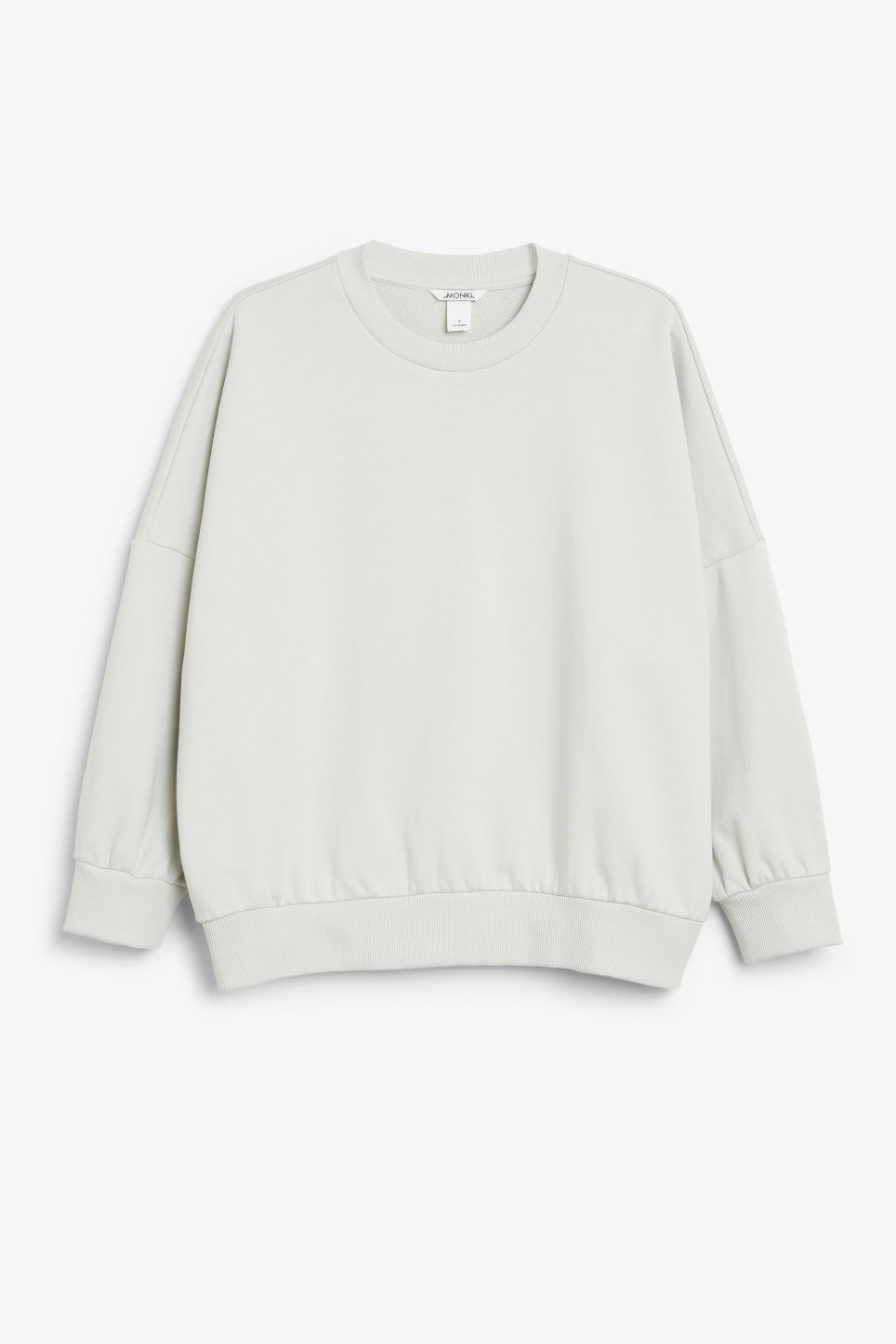 Front image of Monki cotton sweatshirt in beige