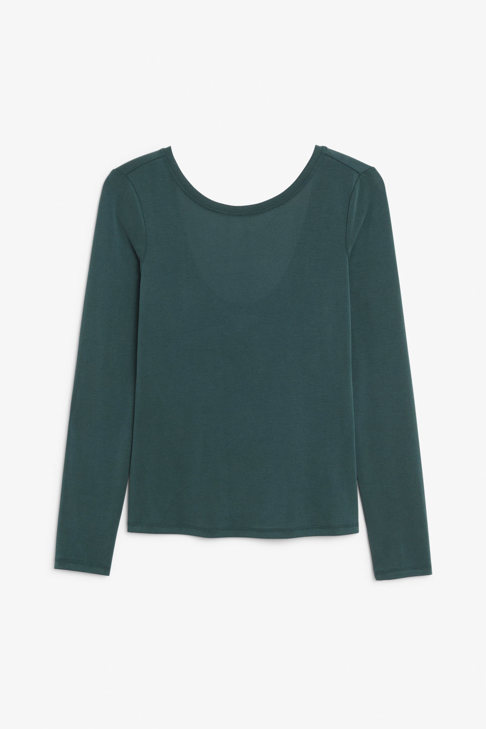Front image of Monki super-soft long-sleeved top in green