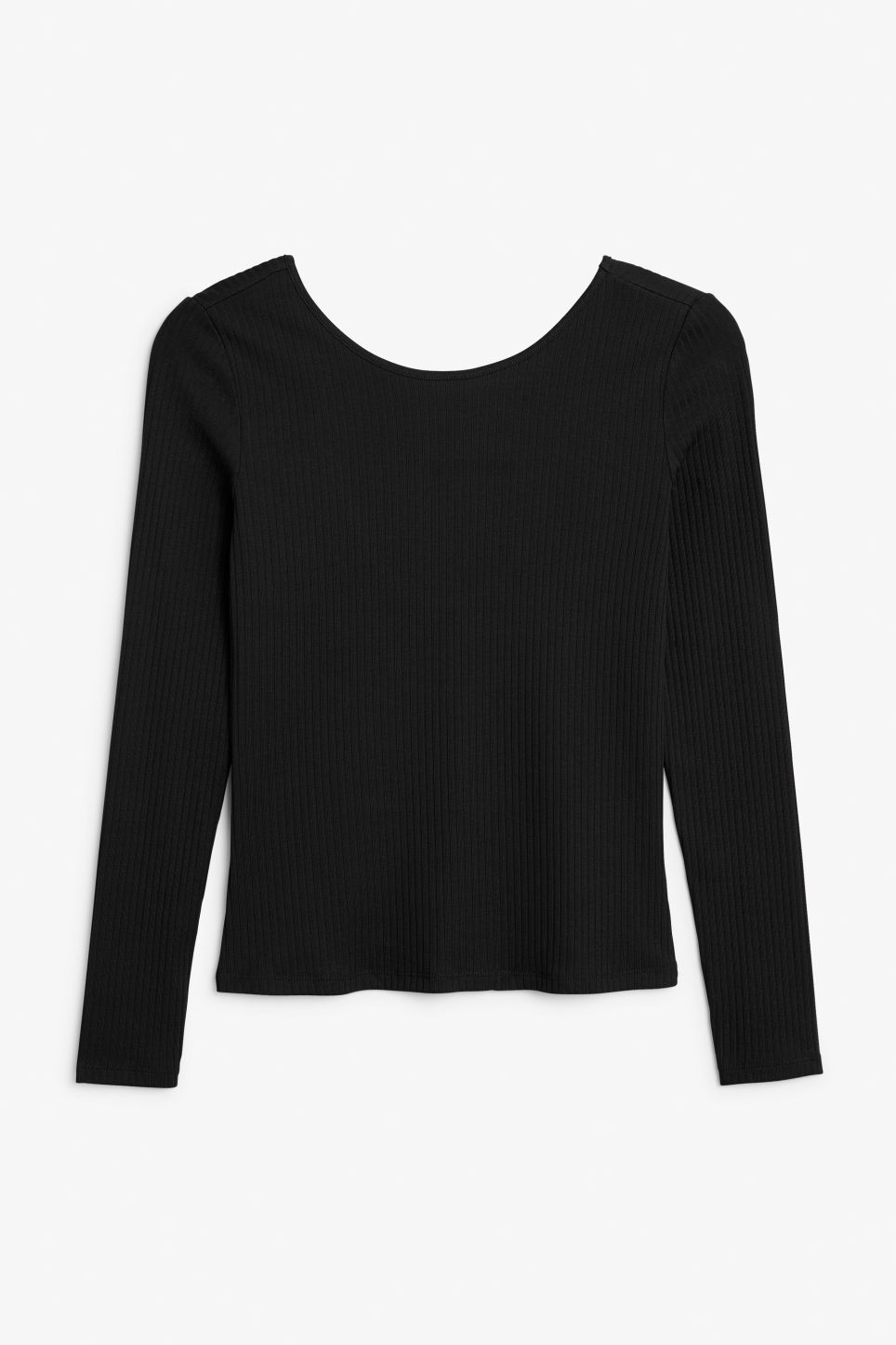 Front image of Monki low-back top in black