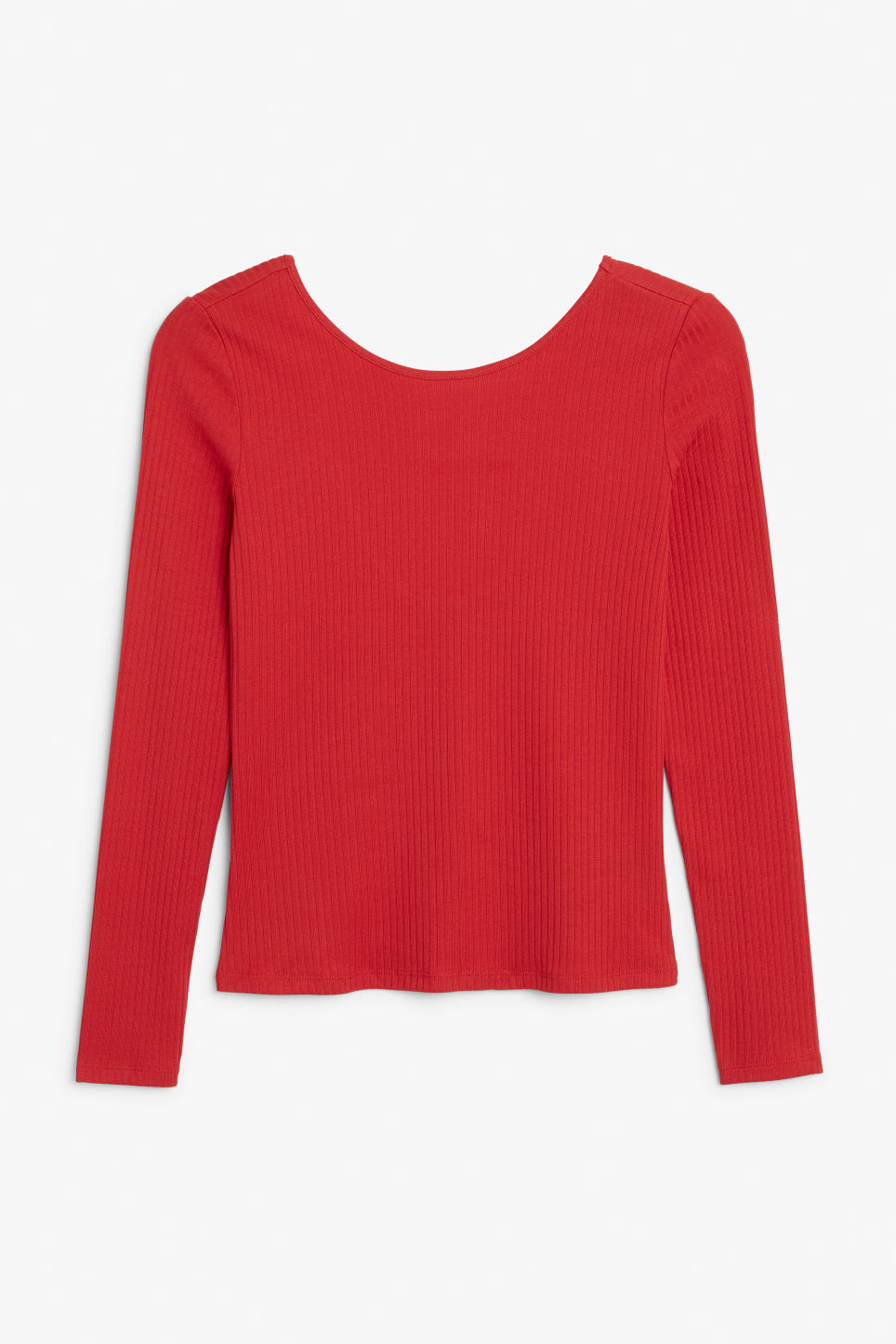 Front image of Monki low-back top in red
