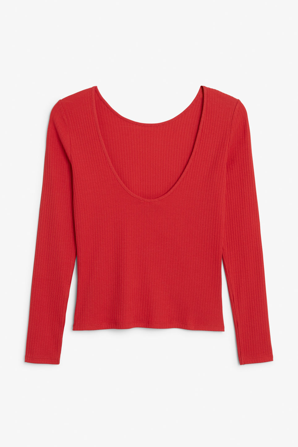 Back image of Monki low-back top in red