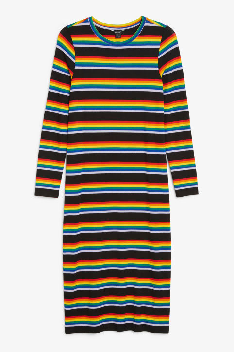 Stretchy rainbow dress