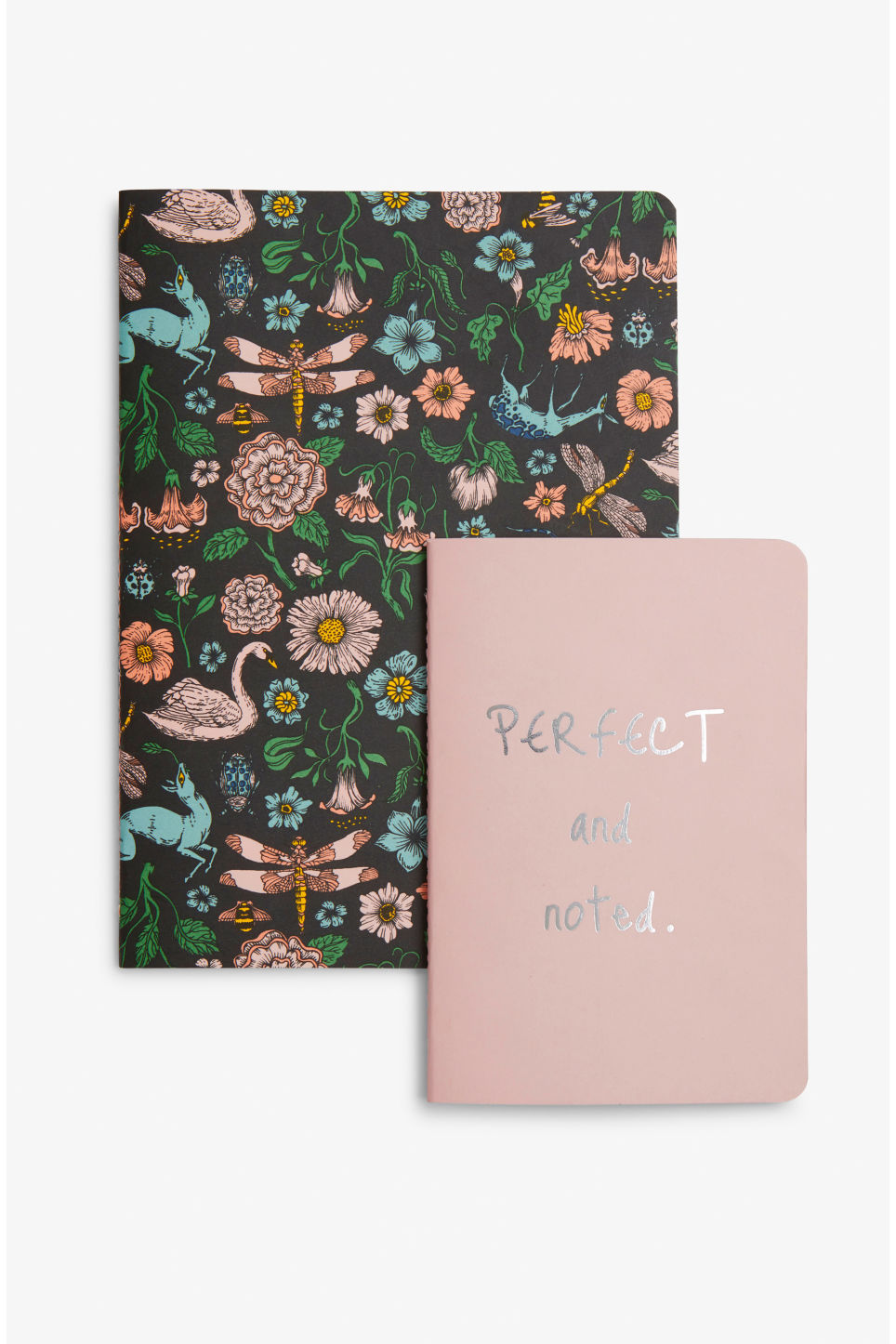 Front image of Monki notebook set in black