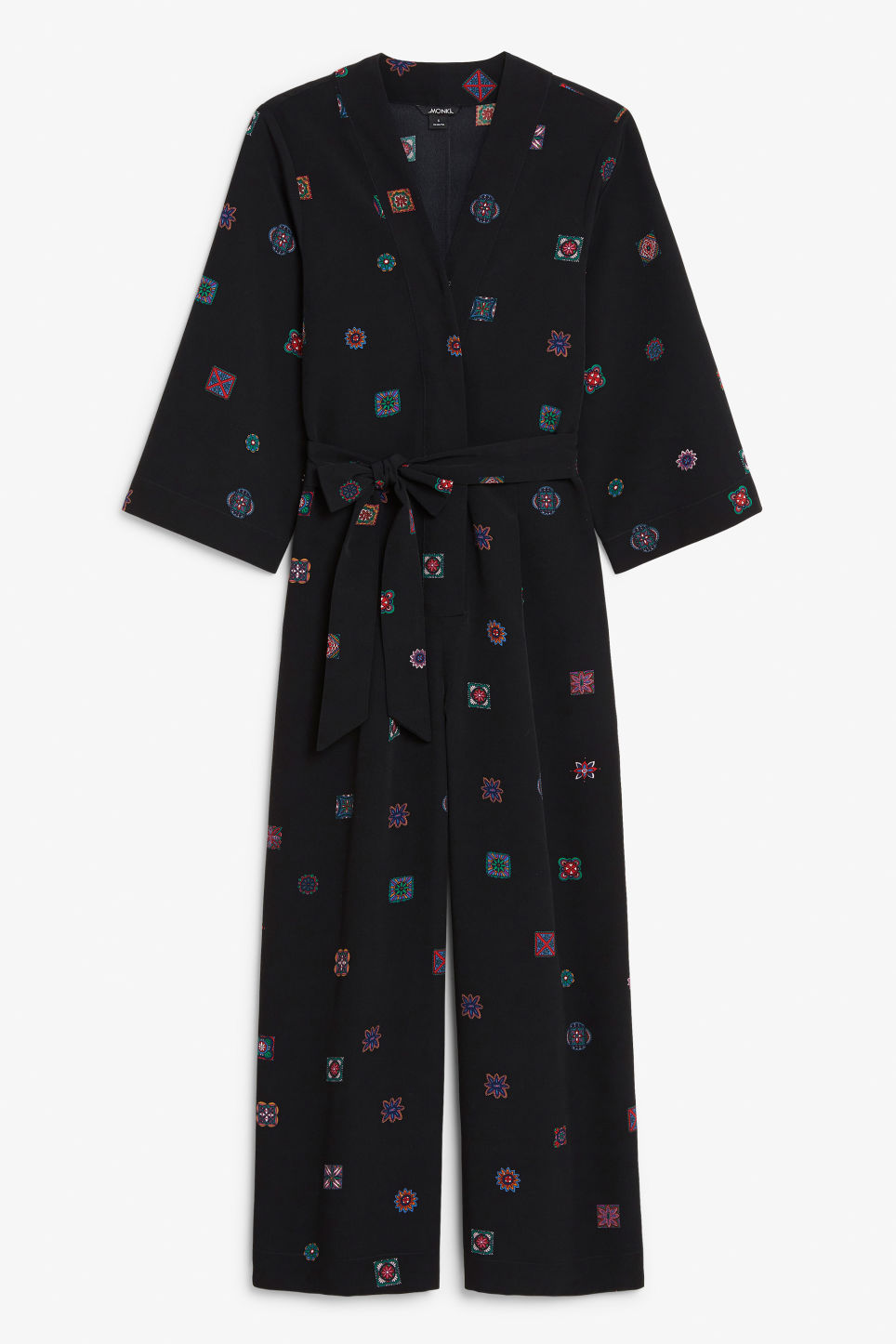 Front image of Monki dressy jumpsuit in black
