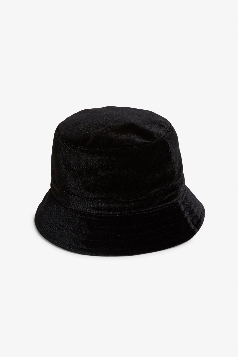 Front image of Monki bucket hat in black 4775805026a