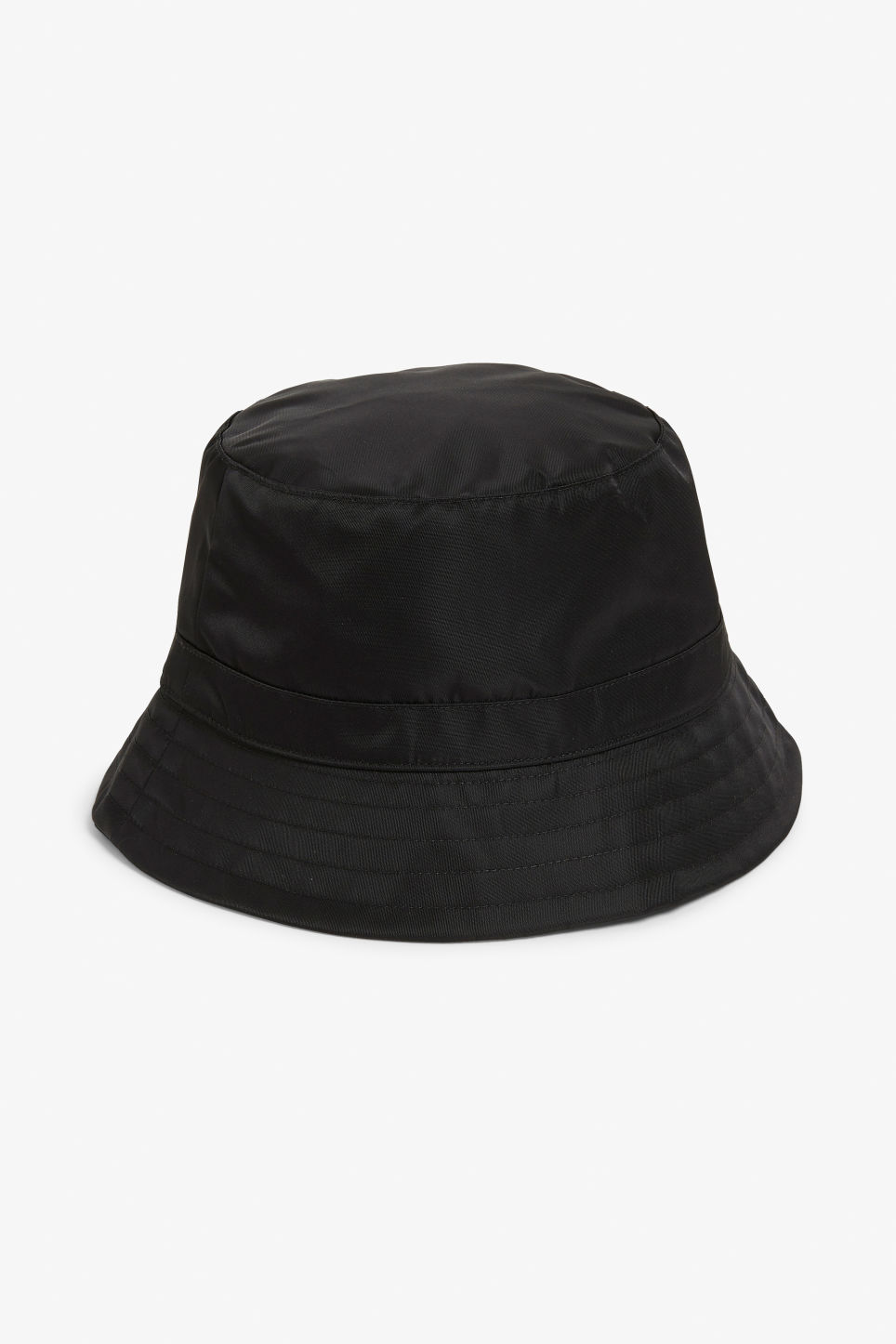 Front image of Monki bucket hat in black
