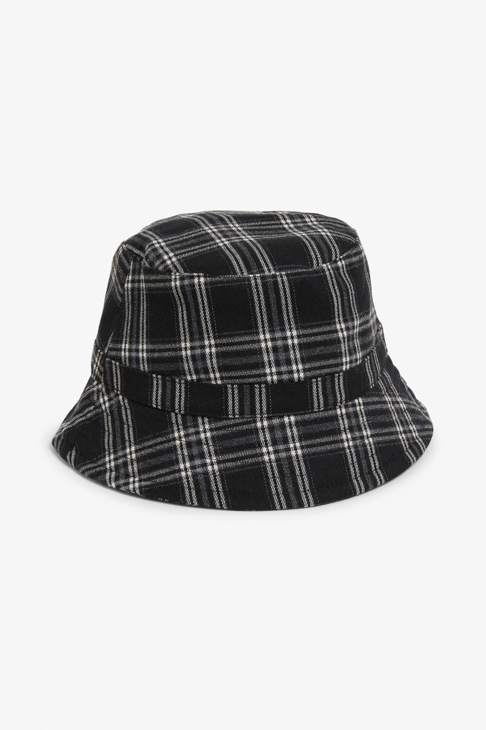 Front image of Monki bucket hat in white