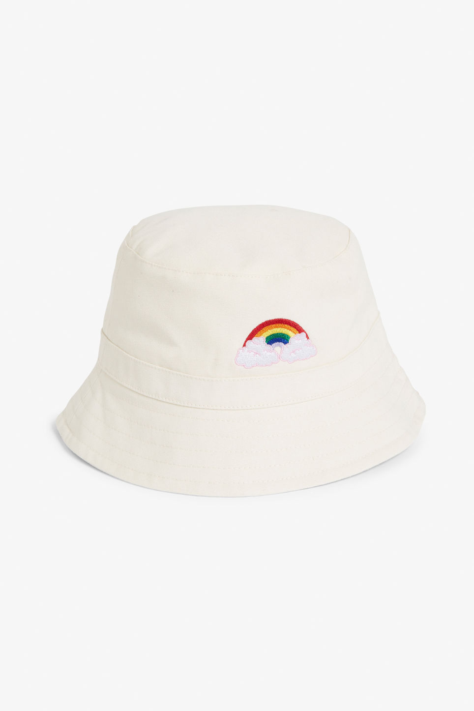 Front image of Monki bucket hat in beige