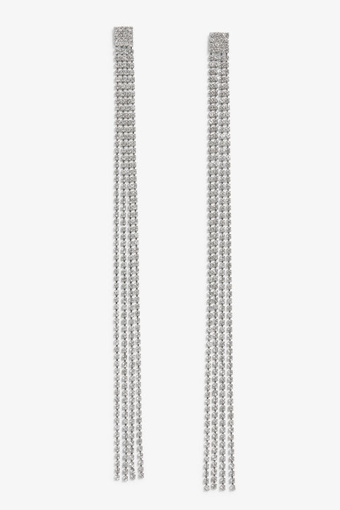 Long strass earrings