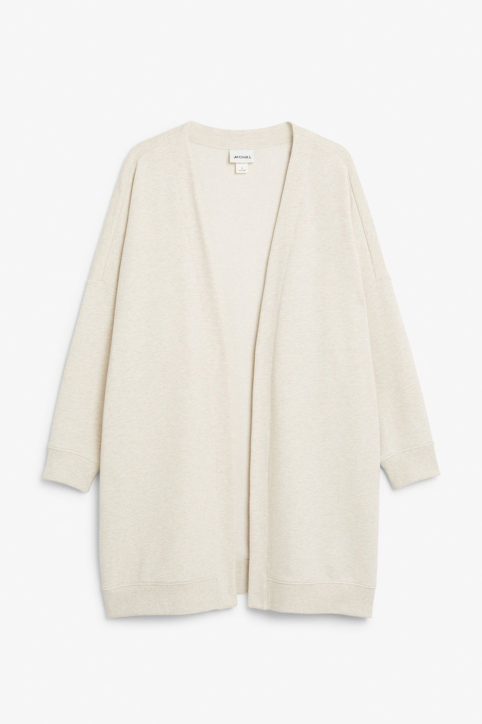Front image of Monki oversized cardigan in white