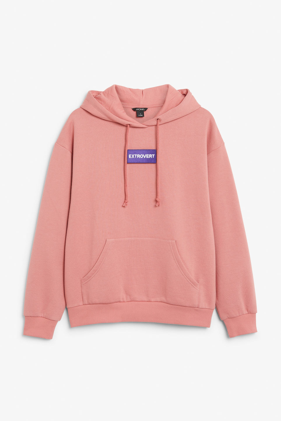 Front image of Monki swap-it hoodie in pink