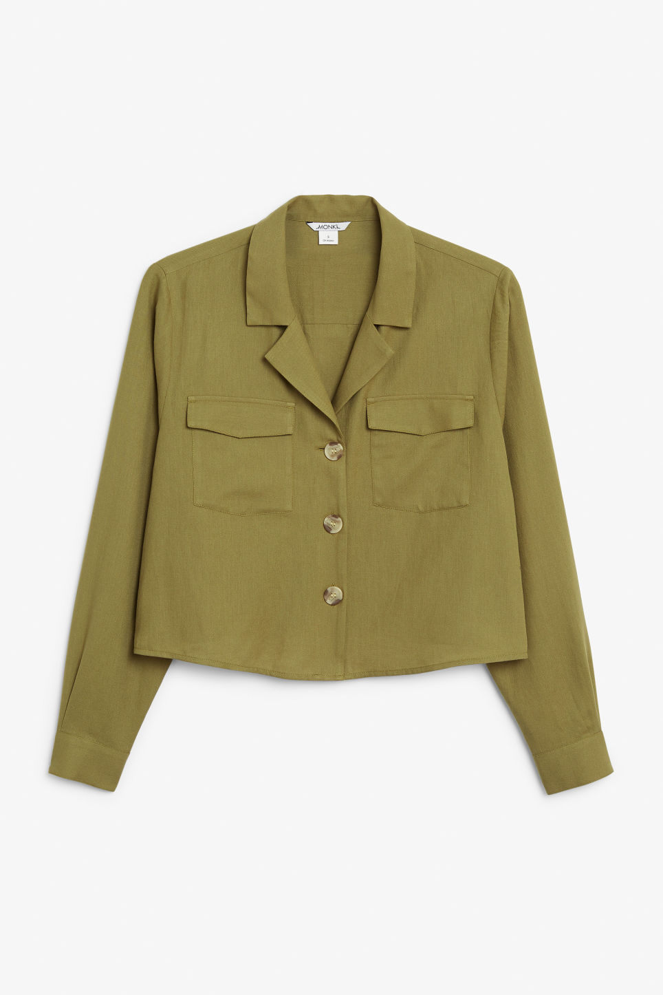 Front image of Monki utility blouse in beige