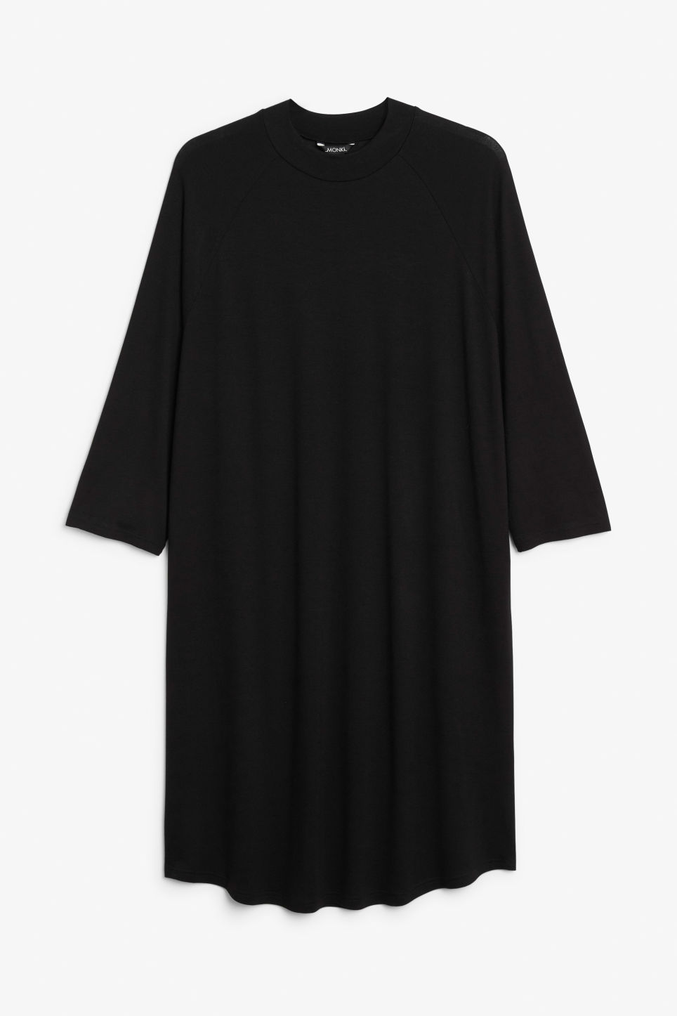 Front image of Monki long t-shirt dress in black