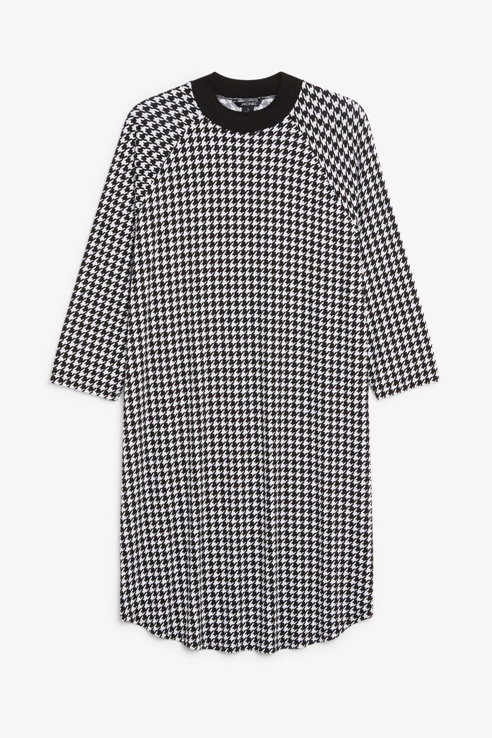Front image of Monki long t-shirt dress in white
