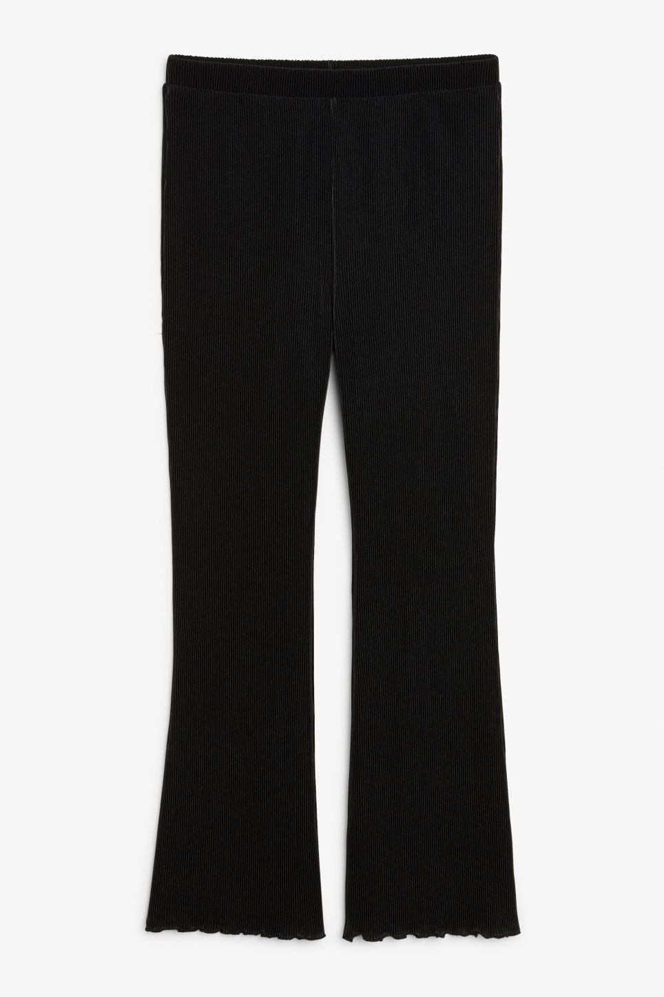 Front image of Monki pleated trousers in black