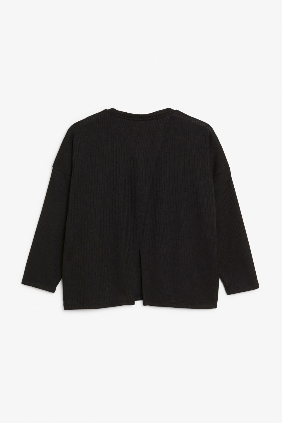 Back image of Monki ribbed top in black