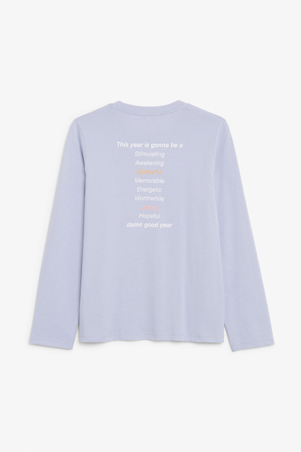 Back image of Monki long-sleeved top in purple