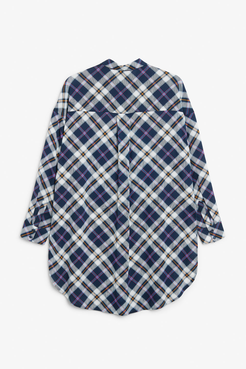Back image of Monki oversized blouse in blue