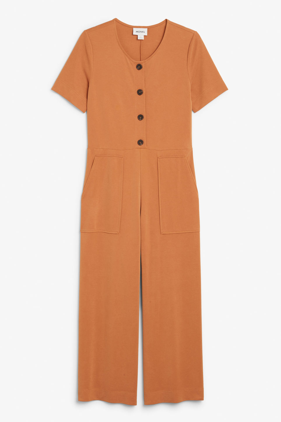 Front image of Monki wide-legged jumpsuit in orange