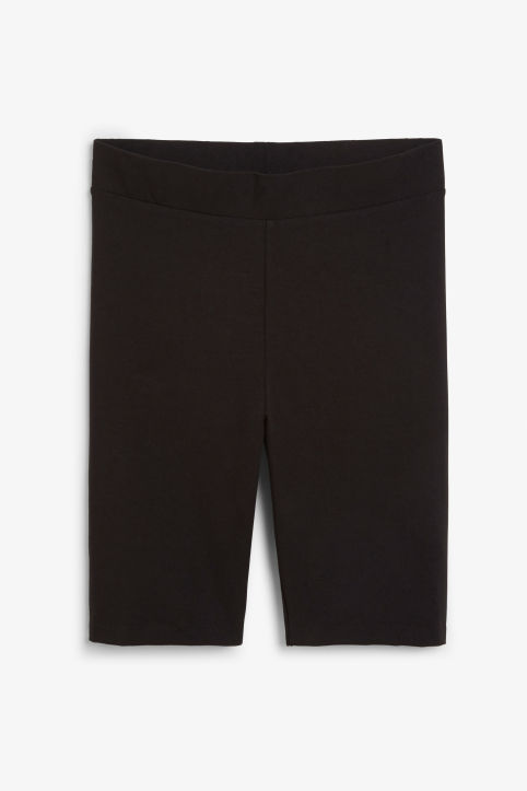 Front image of Monki short leggings in black