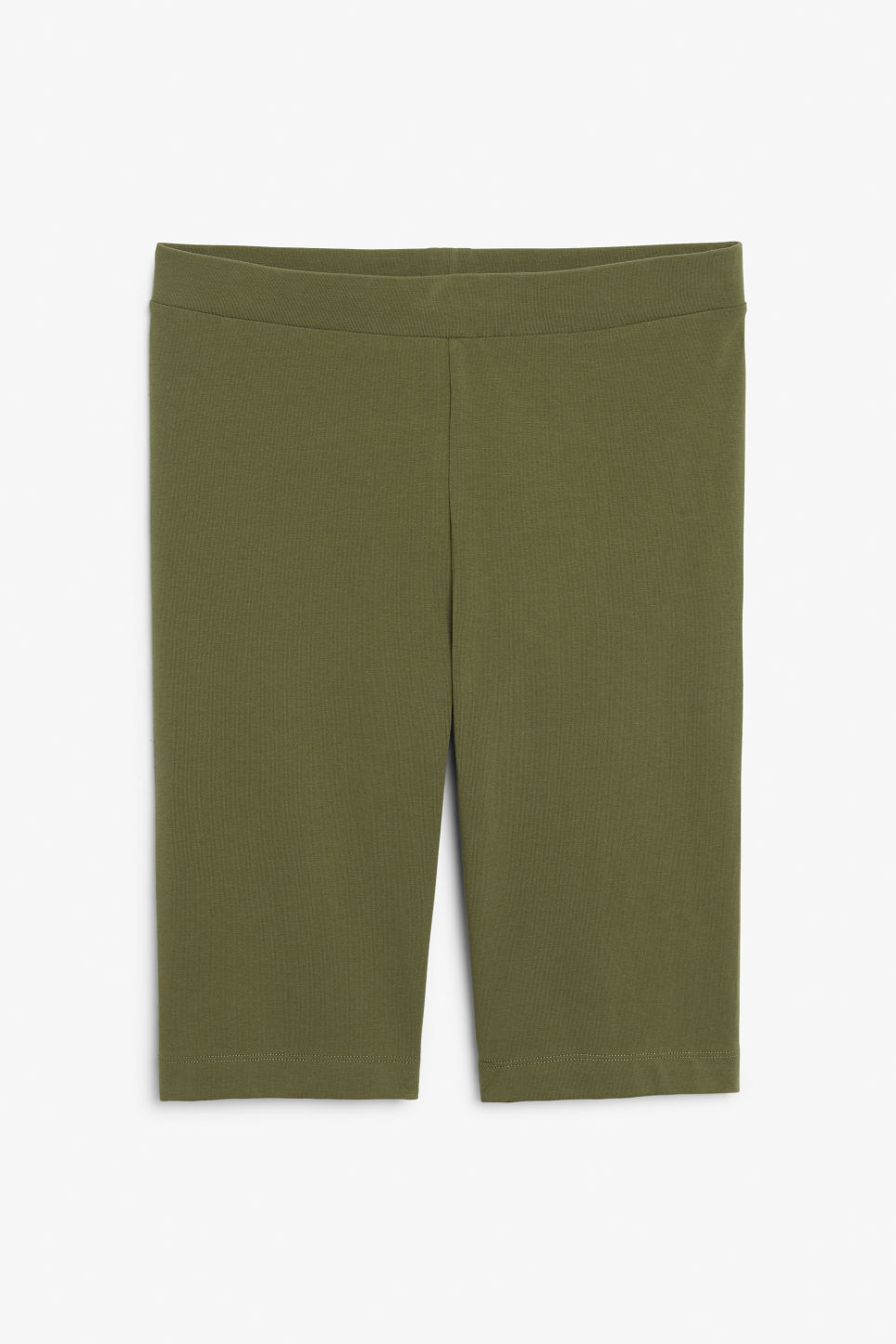 Front image of Monki short leggings in green