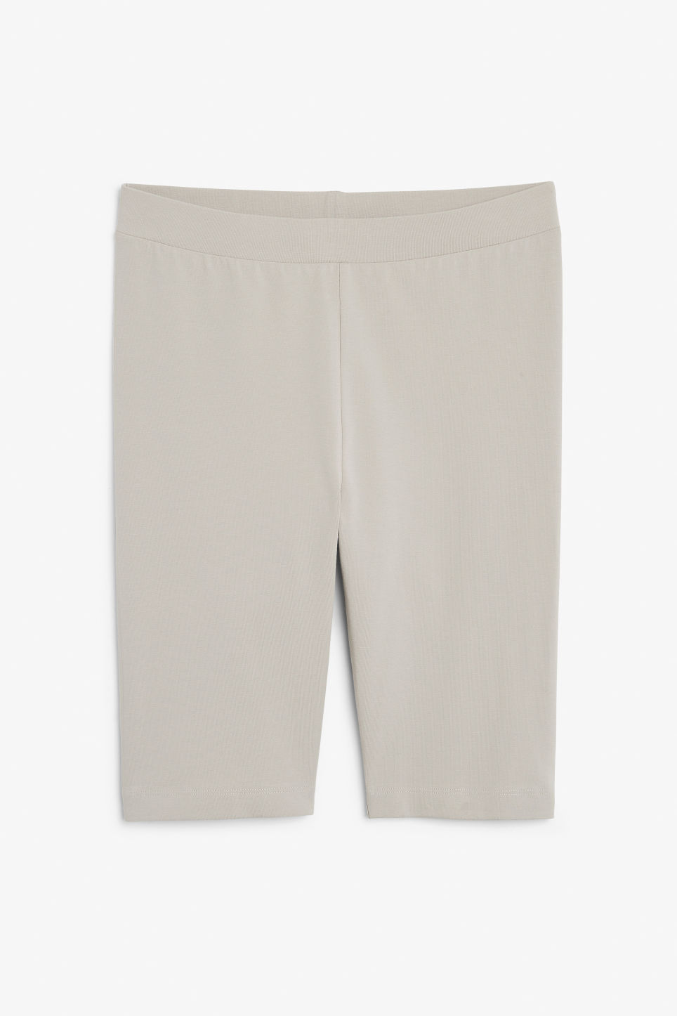 Front image of Monki short leggings in beige