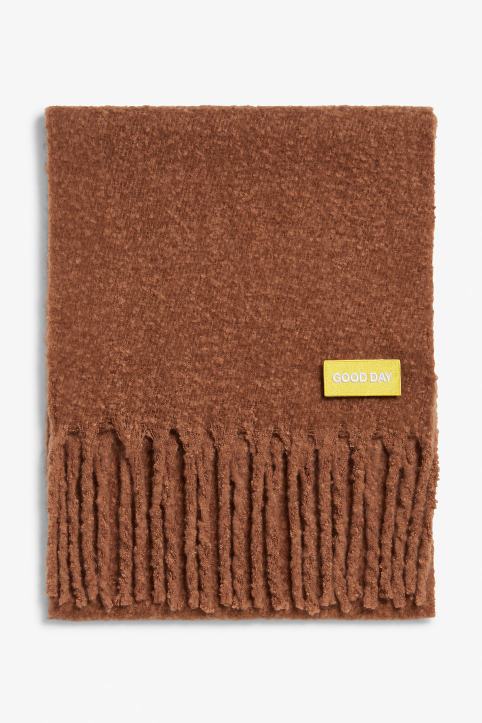 Front image of Monki statement scarf in orange