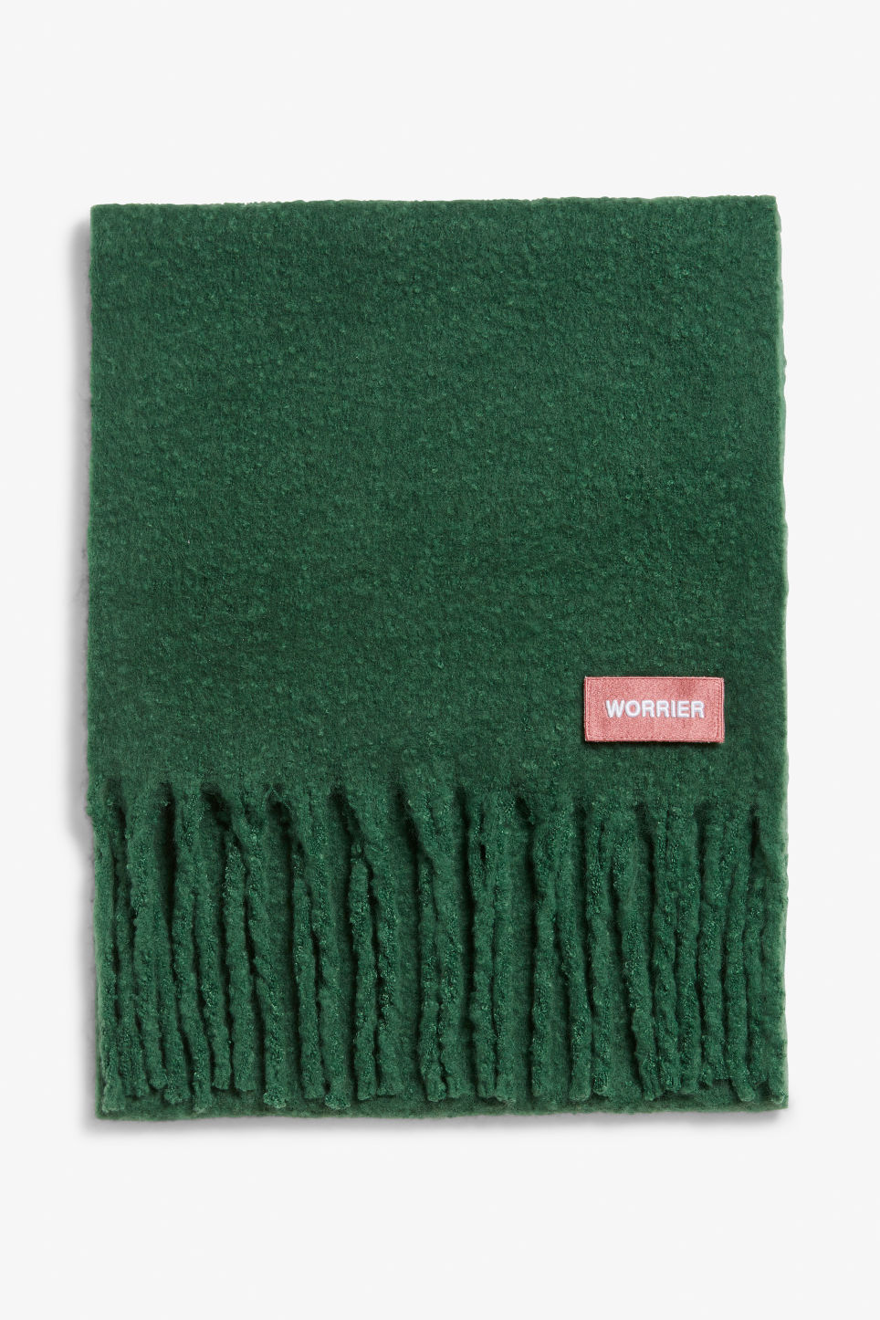 Front image of Monki statement scarf in green