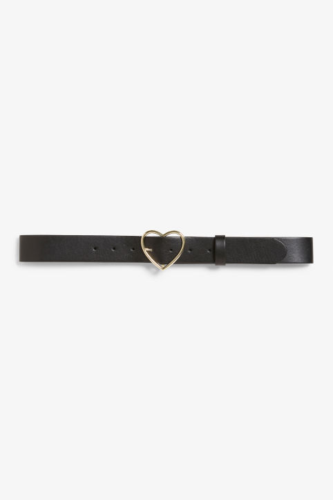 Belt with heart buckle