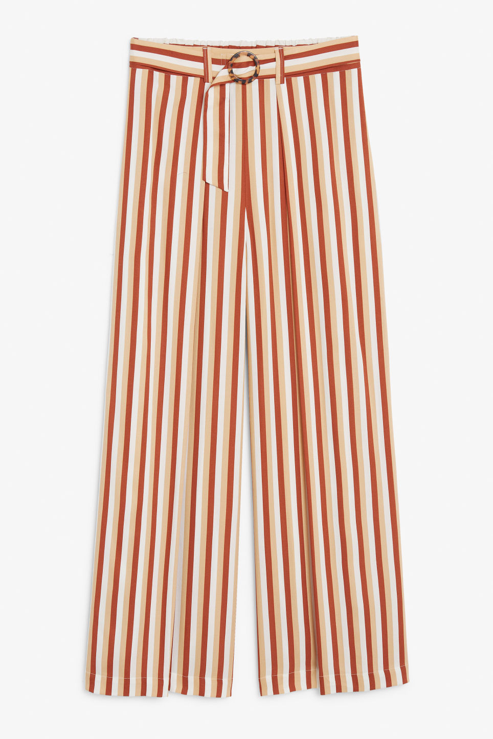 Front image of Monki wrap style trousers in orange