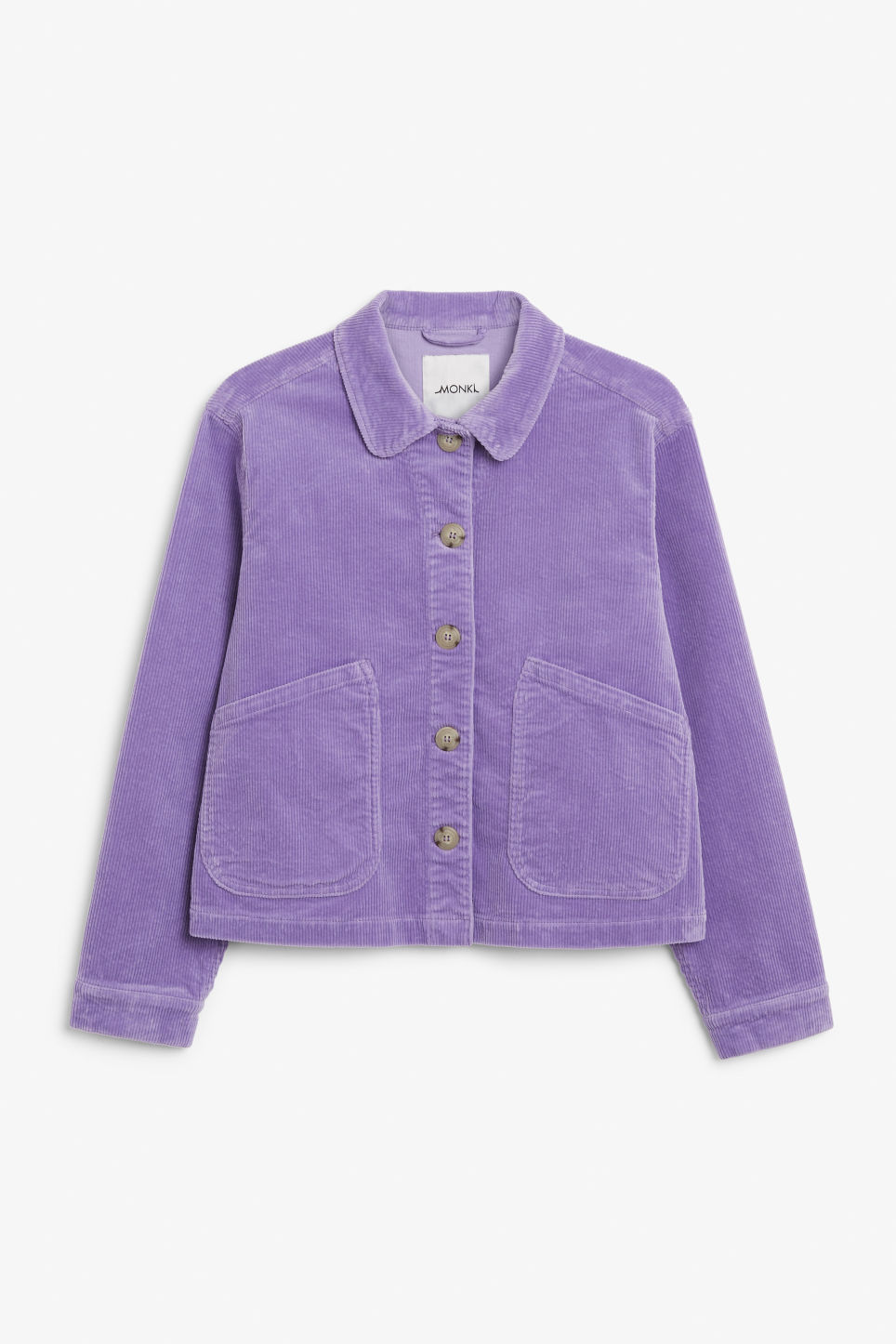 Front image of Monki short jacket in purple