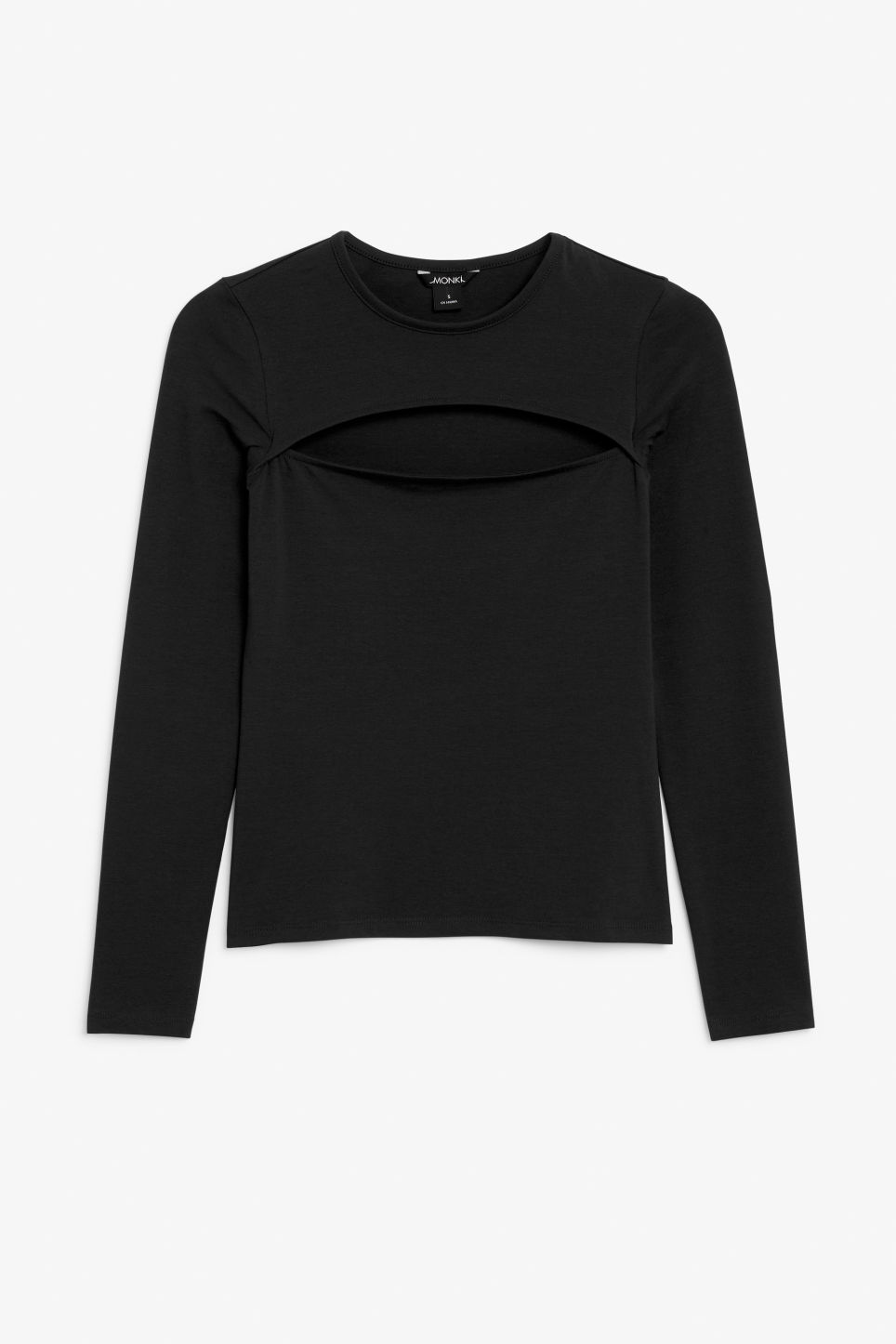 Front image of Monki cut-out top in black