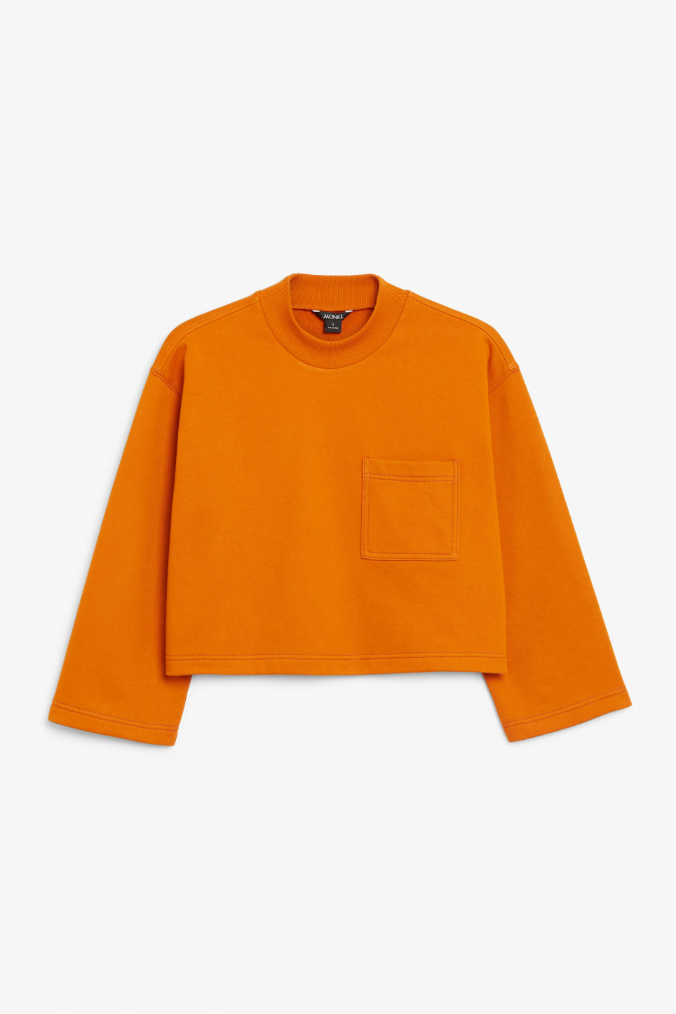 Front image of Monki cropped sweater in orange