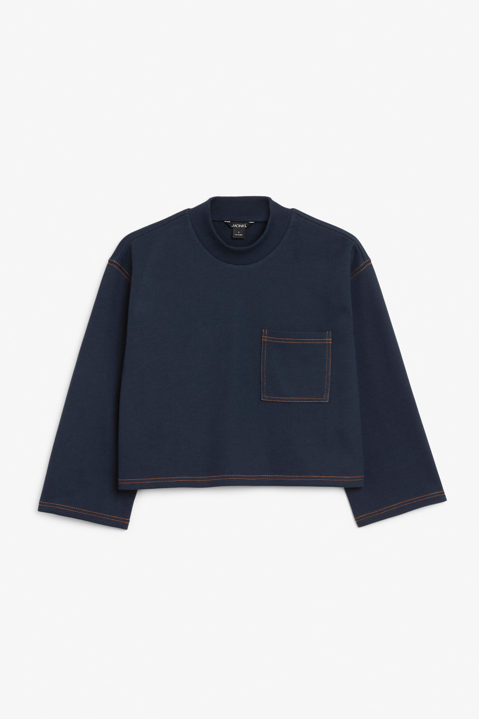 Front image of Monki cropped sweater in blue