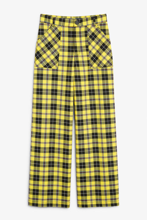Plaid utility trousers