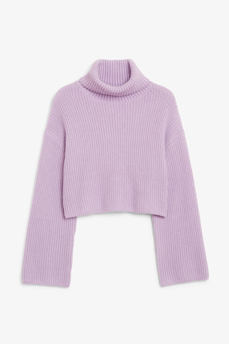 Front image of Monki turtleneck knit top in purple