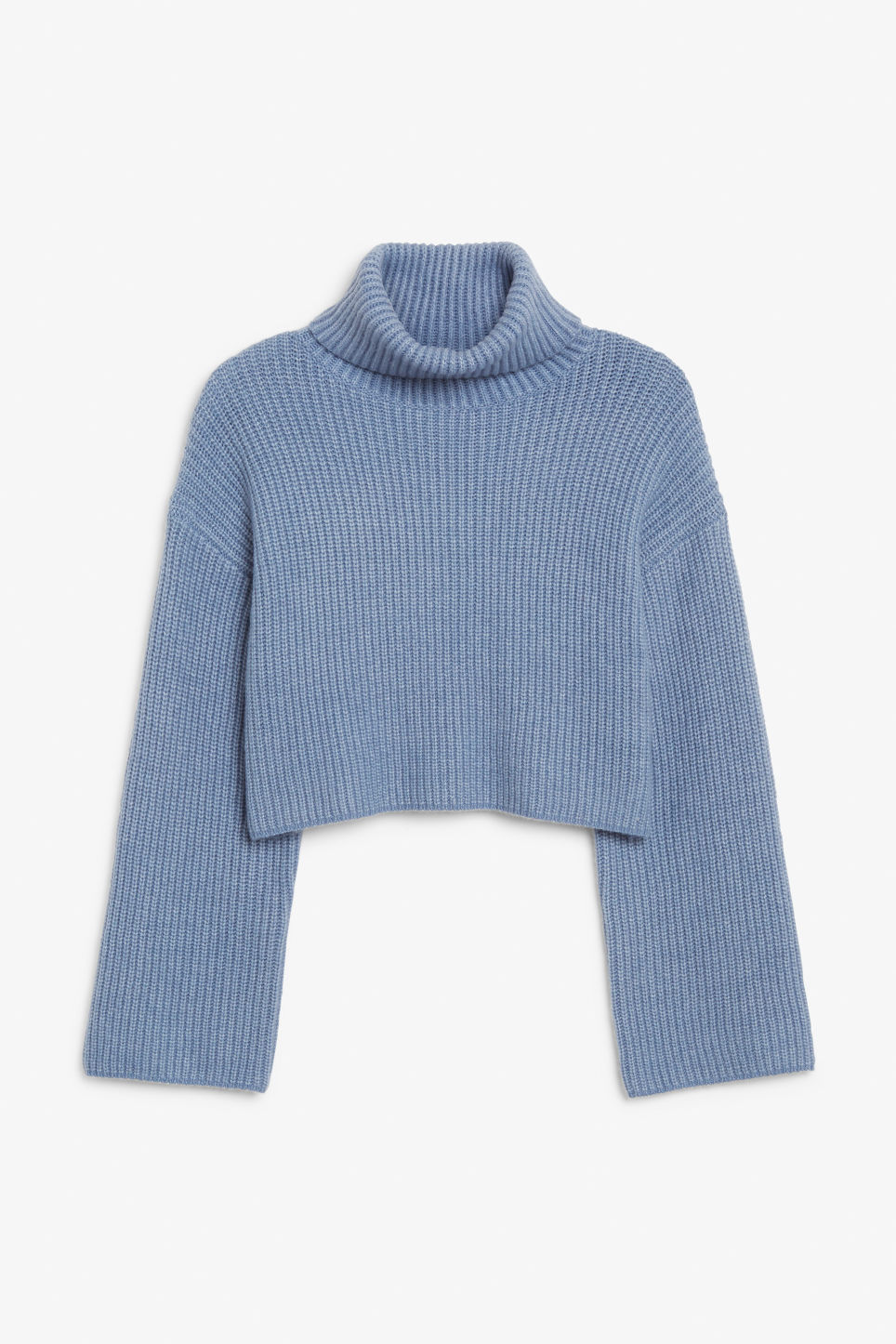 Front image of Monki turtleneck knit top in blue