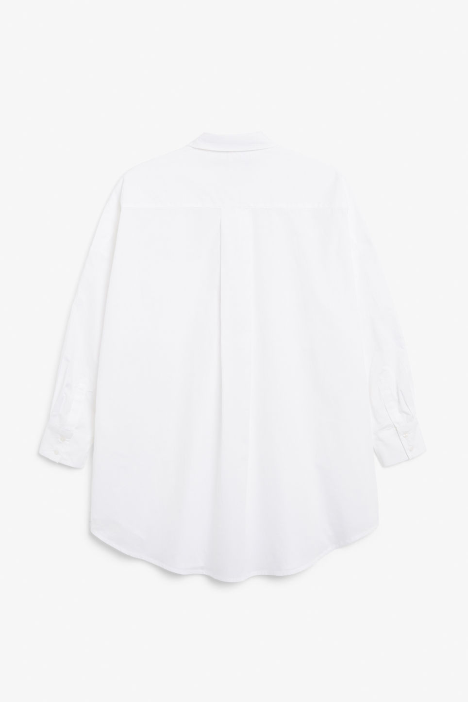 Back image of Monki below the hip blouse in white
