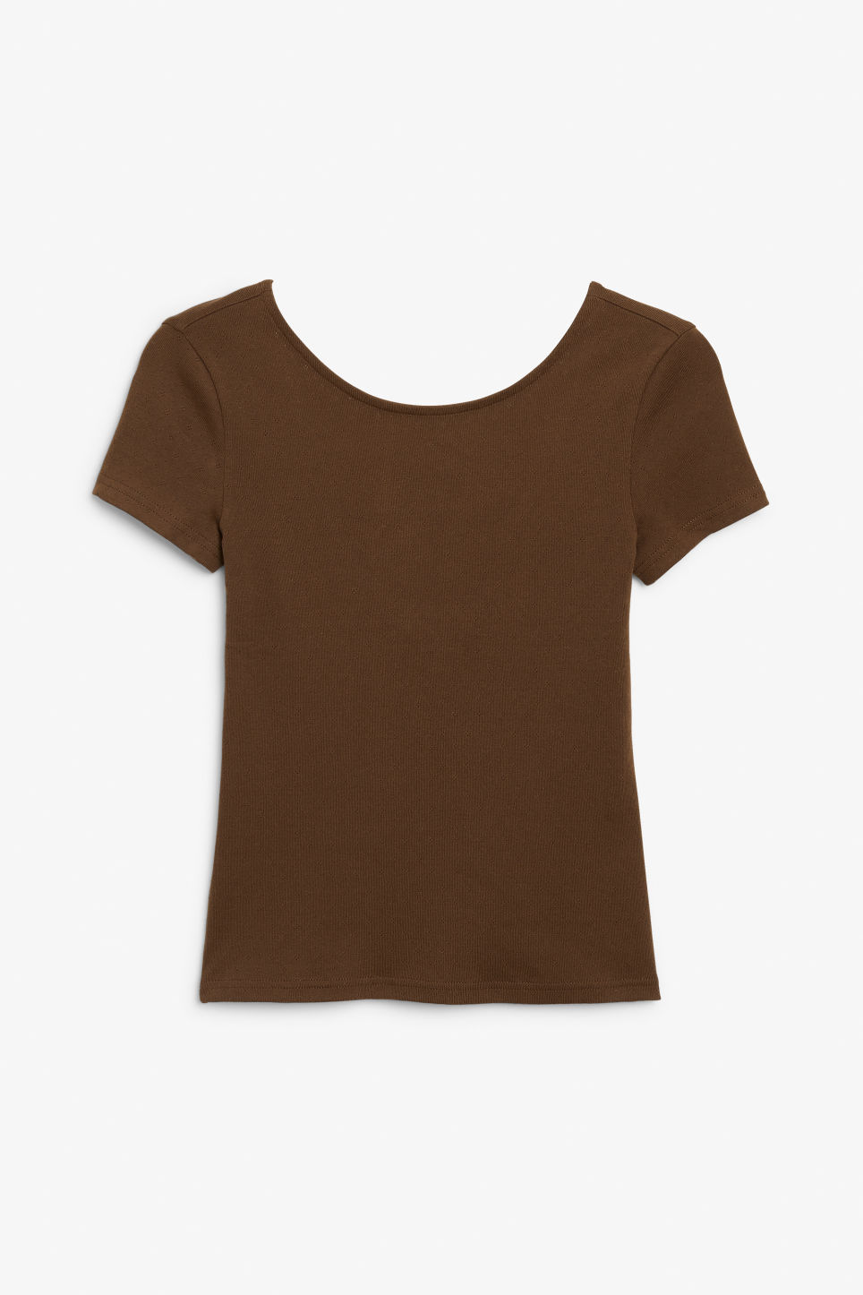 Front image of Monki low back top in beige