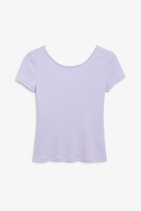 Front image of Monki low back top in purple