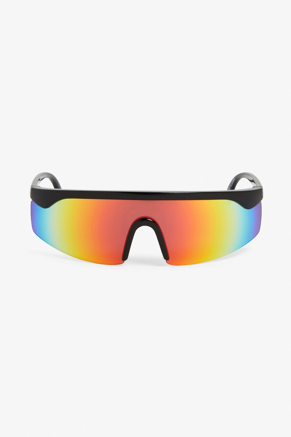 Front image of Monki gradient lens sunglasses in black