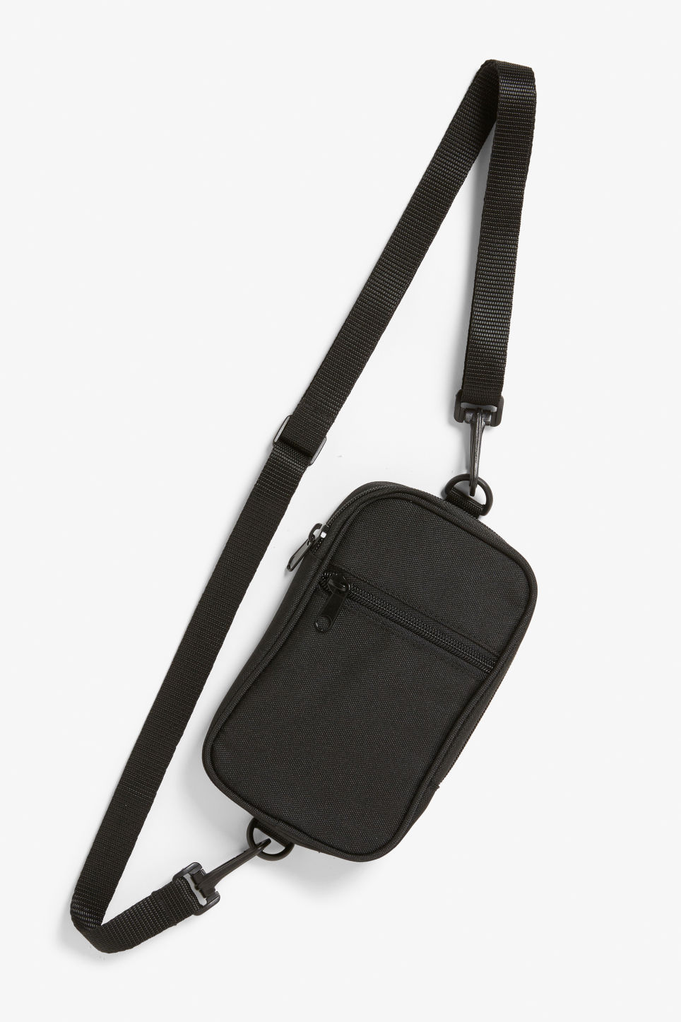Front image of Monki utility style bag in black